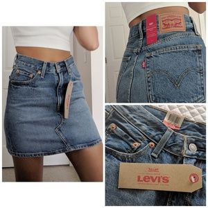 NEW Levi' Deconstructed Mini Skirt Denim Size W24